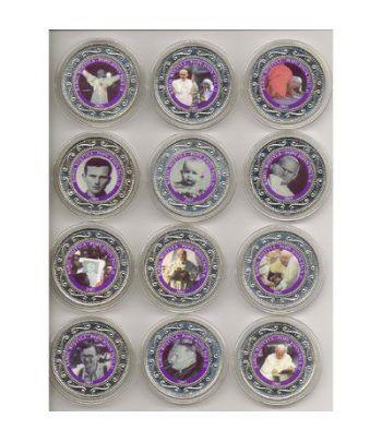 Monedas de plata 1$ Somalia 2005 Juan Pablo II. 12 monedas.  - 2