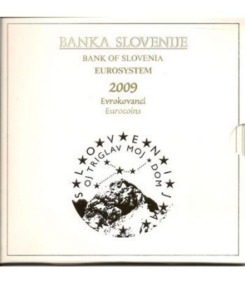 Cartera oficial euroset Eslovenia 2009 (incluye moneda 3 euros)  - 1