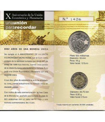 Cartera oficial euroset 12 Euros España 2009 +2€ (EMU)  - 1