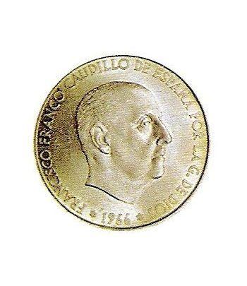 Moneda de plata 100 pesetas Franco 1966 *19-67 Madrid. MBC  - 4