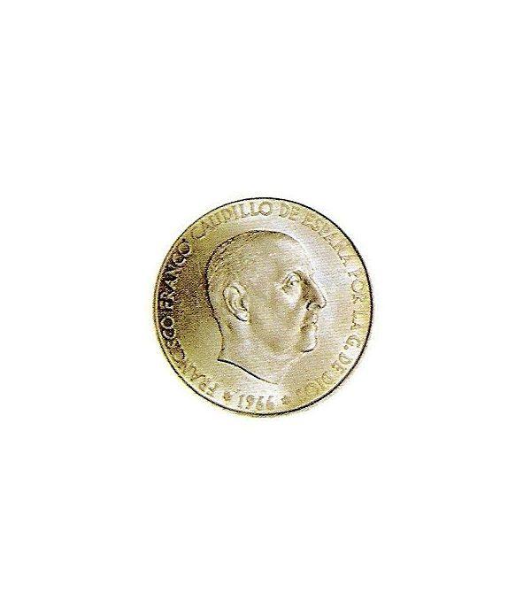 Moneda de plata 100 pesetas Franco 1966 *19-67 Madrid. MBC  - 1