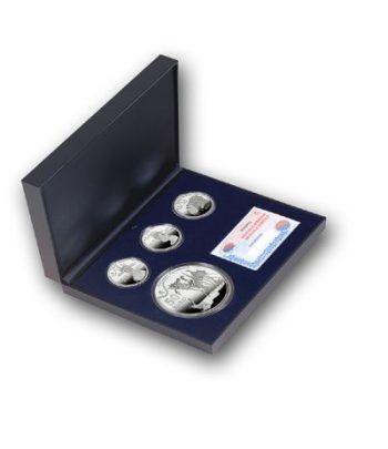Monedas 2009 Dalí. Serie completa. Plata.  - 1
