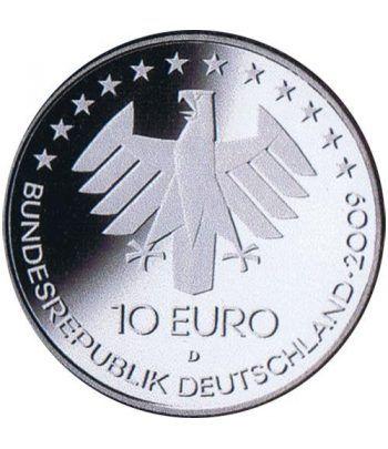 moneda Alemania 10 Euros 2009 D. Aviación.  - 2