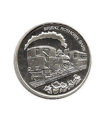Moneda de plata 20 francos Suiza 2009. Tren.  - 4