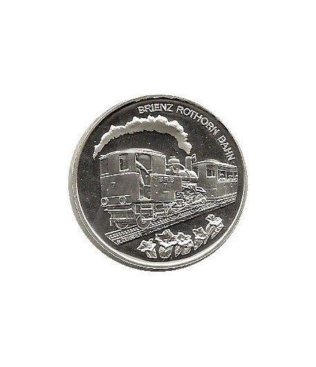 Moneda de plata 20 francos Suiza 2009. Tren.  - 1