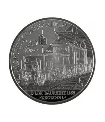 moneda Austria 20 Euros 2009 Tren electrico (estuche proof)  - 1