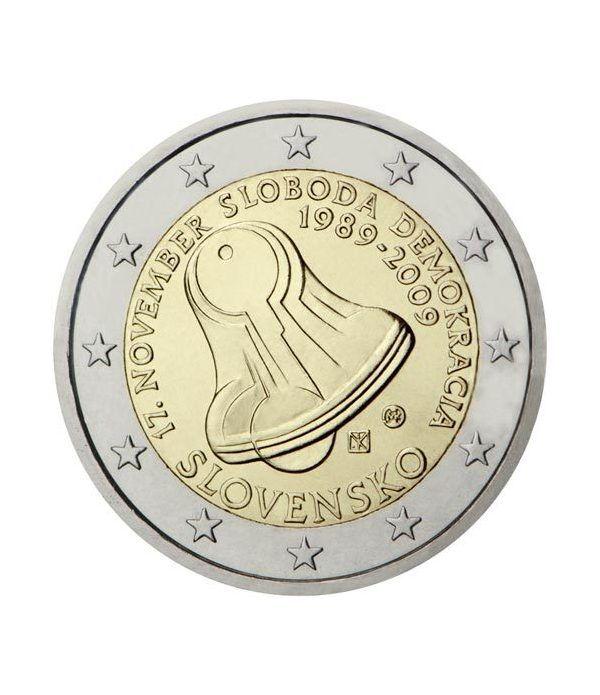 moneda conmemorativa 2 euros Eslovaquia 2009.  - 2