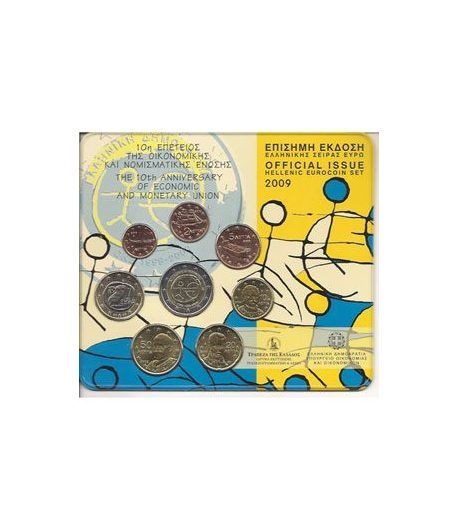 Cartera oficial euroset Grecia 2009 (2 euros EMU)  - 2