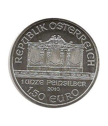 Moneda onza de plata 1,5 euros Austria Filarmonica 2010  - 1