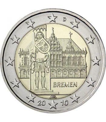 moneda conmemorativa 2 euros Alemania 2010. 5 monedas.  - 2