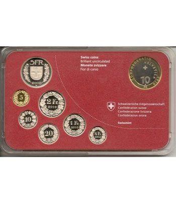 Estuche monedas Suiza 2010 (Proof).  - 4