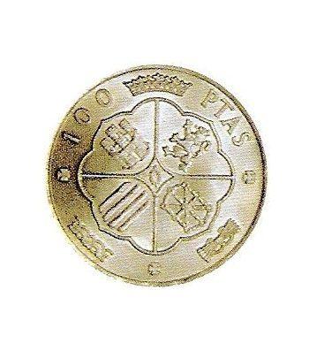 Moneda de plata 100 pesetas Franco 1966 *19-70 Madrid. EBC  - 2