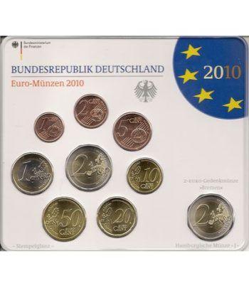 Cartera oficial euroset Alemania 2010 (5 cecas).  - 2
