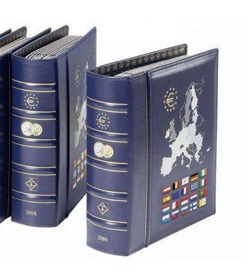 LEUCHTTURM VISTA Album Anual Euro 2010 con cajetín. Album Monedas Euro - 2