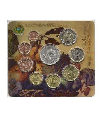 Cartera oficial euroset San Marino 2010 + 5€ (plata)  - 1
