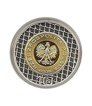 Moneda de plata 10z Polonia 2006. FIFA. Bimetalica.  - 1