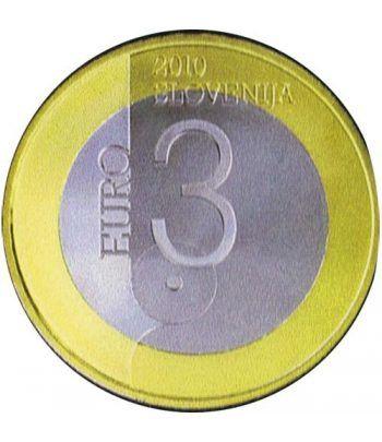 moneda Eslovenia 3 Euros 2010  - 1