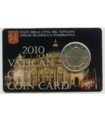 Cartera oficial euroset Vaticano 2010 (moneda 50cts.)  - 2