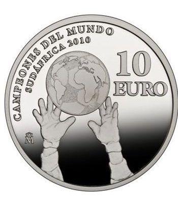 Moneda 2010 Campeones del Mundo Sudafrica 2010. 10 euros plata  - 2
