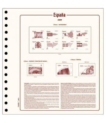 FILOBER sellos ESPAÑA 2000 montado con estuches Hojas FILOBER Cultural - 2