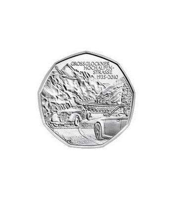 moneda Austria 5 Euros 2010 (nueve esquinas) Carrera Alpina.  - 2