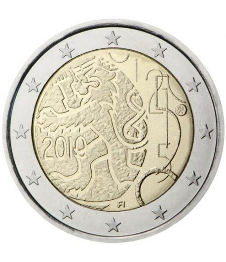moneda conmemorativa 2 euros Finlandia 2010.  - 2