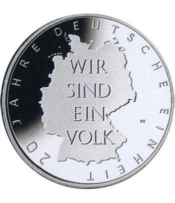 moneda Alemania 10 Euros 2010 A. Unificación alemana.  - 1