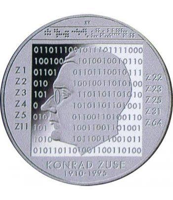 moneda Alemania 10 Euros 2010 G. Konrad Zuse.  - 1