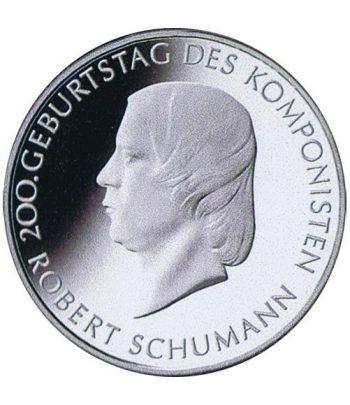 moneda Alemania 10 Euros 2010 J. Robert Schumann.  - 1