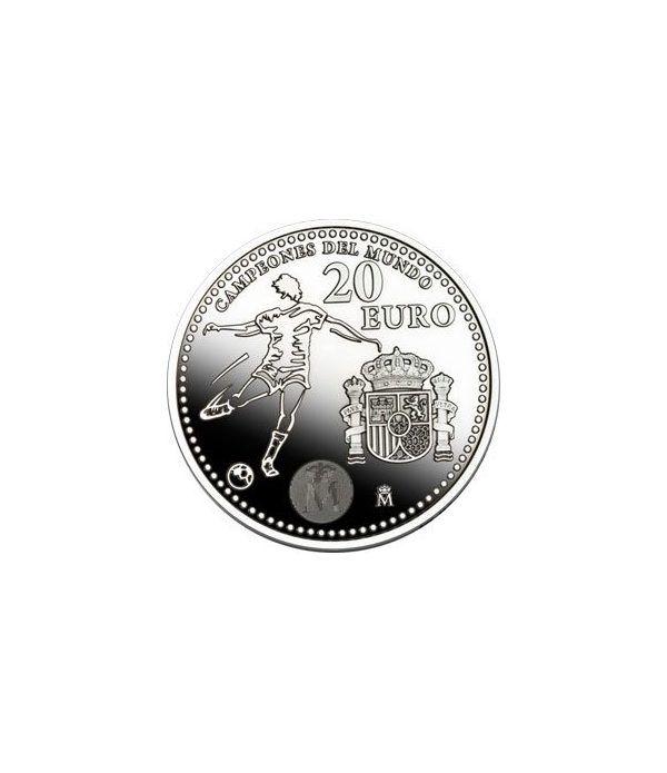 Moneda conmemorativa 20 euros 2010. Campeones Mundo. Plata.  - 2