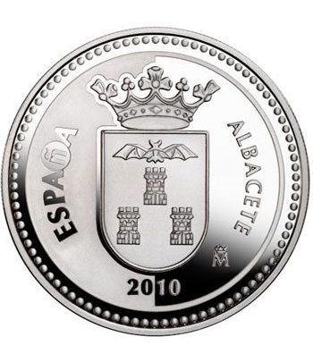 Moneda 2010 Capitales de provincia. Albacete. 5 euros. Plata  - 1