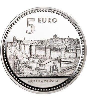 Moneda 2010 Capitales de provincia. Avila. 5 euros. Plata  - 2