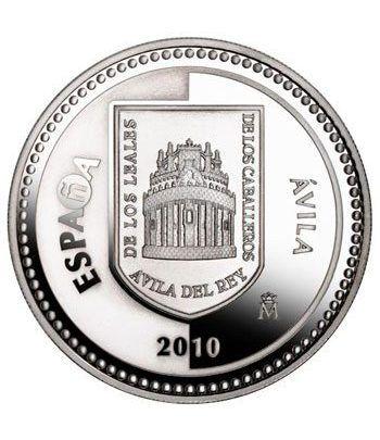 Moneda 2010 Capitales de provincia. Avila. 5 euros. Plata  - 4