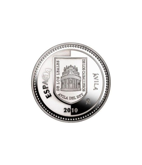 Moneda 2010 Capitales de provincia. Avila. 5 euros. Plata  - 1