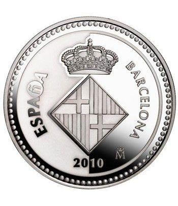 Moneda 2010 Capitales de provincia. Barcelona. 5 euros. Plata  - 1