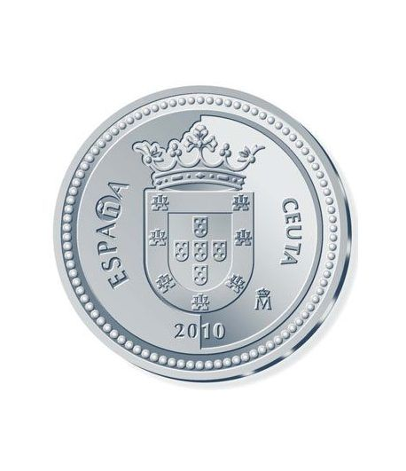 Moneda 2010 Capitales de provincia. Ceuta. 5 euros. Plata  - 1