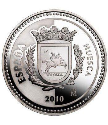 Moneda 2010 Capitales de provincia. Huesca. 5 euros. Plata  - 1