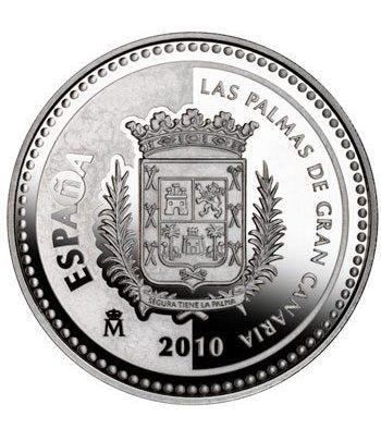 Moneda 2010 Capitales de provincia. Las Palmas. 5 euros. Plata  - 1