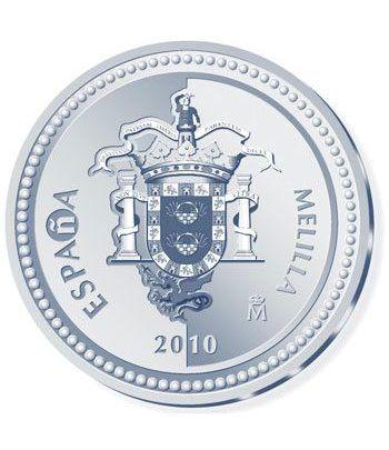 Moneda 2010 Capitales de provincia. Melilla. 5 euros. Plata  - 1