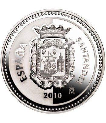 Moneda 2010 Capitales de provincia. Santander. 5 euros. Plata  - 1