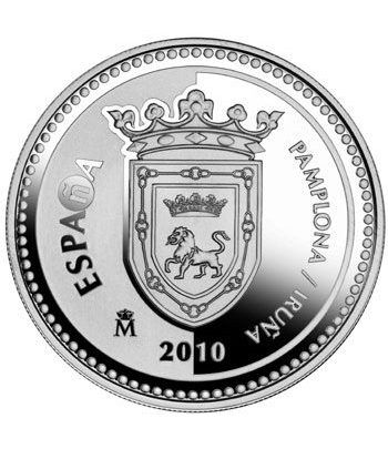 Moneda 2010 Capitales de provincia. Pamplona. 5 euros. Plata  - 4