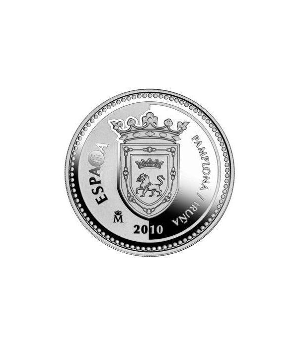 Moneda 2010 Capitales de provincia. Pamplona. 5 euros. Plata  - 1