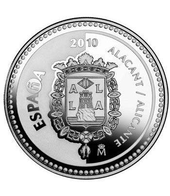 Moneda 2010 Capitales de provincia. Alicante. 5 euros. Plata  - 1