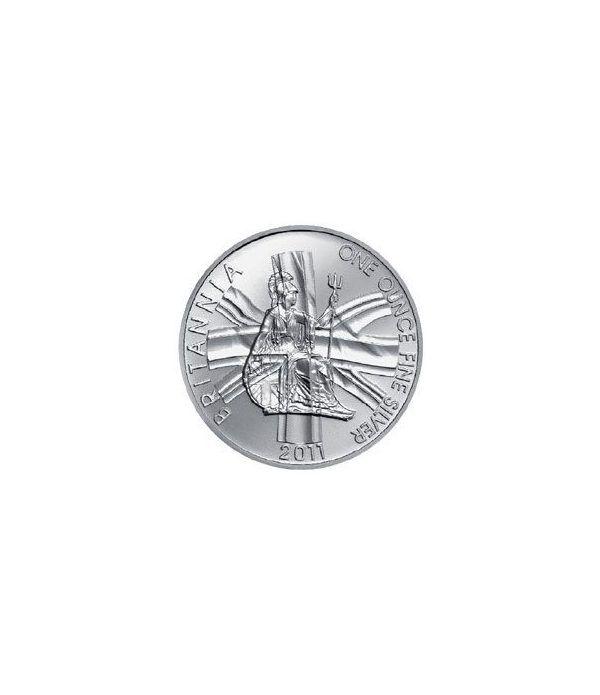 Moneda de plata Britannia 2 Pounds Inglaterra 2011.  - 2