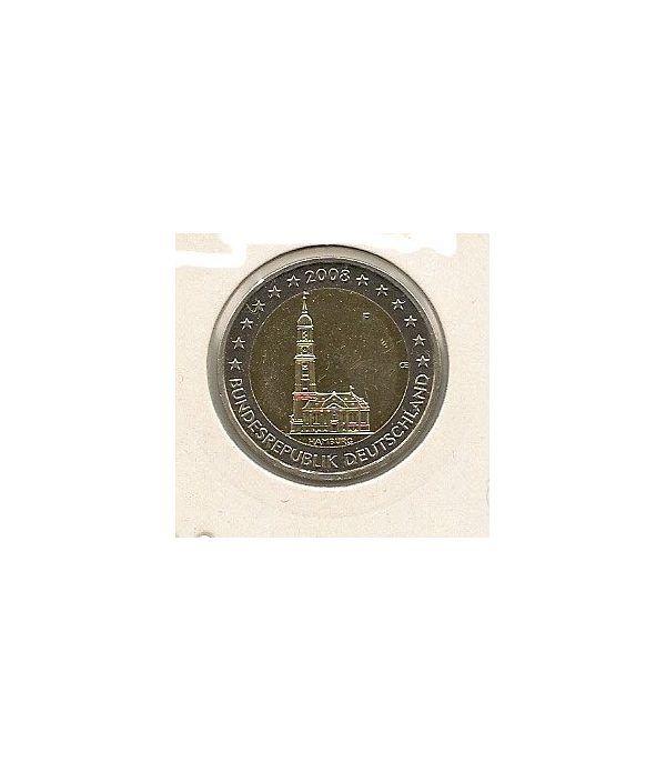 moneda conmemorativa 2 euros Alemania 2008 F (mapa antiguo).  - 1
