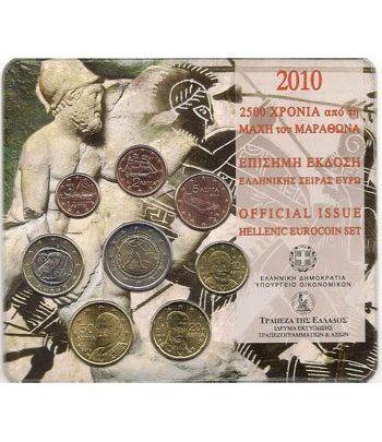 Cartera oficial euroset Grecia 2010 (2 euros conmemorativa)  - 2