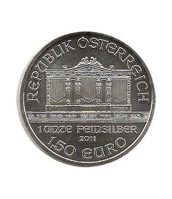 Moneda onza de plata 1,5 euros Austria Filarmonica 2011  - 4
