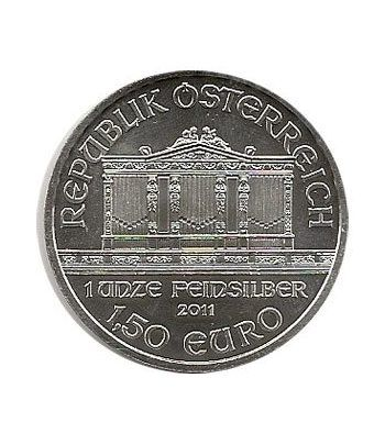 Moneda onza de plata 1,5 euros Austria Filarmonica 2011  - 1