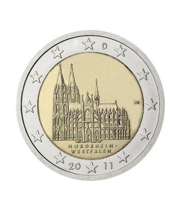 moneda conmemorativa 2 euros Alemania 2011. 5 monedas.  - 2