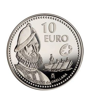 Moneda 2011 Exploradores Fco. de Orellana. 10 euros. Plata.  - 1